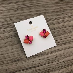 Kate Spade Pink Cluster Square Stud Earrings